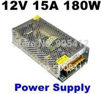 New Style 180W LED Power Supply for 3528 5050 Led Strip 12V 15A LED transformer for led strip! Free Shipping