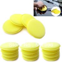FREE SHIPPING 12Pcs Waxing Polish Wax Foam Sponge Applicator Pads For Clean Car Vehicle Glass SH-341