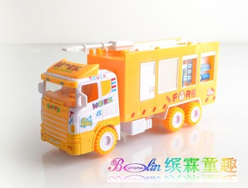 Water tank car fire truck toy cartoon engineering car puzzle toy car