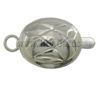 Free shipping!!!Brass Box Clasp,2013 new men, Oval, platinum color plated, single-strand, nickel, lead & cadmium free