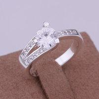inset stone dula-line Ring 925 silver ring,high quality ,fashion jewelry, Nickle free,antiallergic fntj pbme