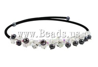 Free shipping!!!Natural Cultured Freshwater Pearl Jewelry Sets,australian, Round, natural, black, 6-7mm, 6-8mm