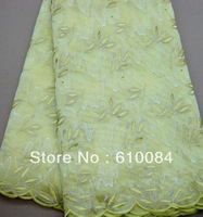 FREE shipping by DHL,korea organza sequins lace fabric,for party,wedding,OZ15 yellow, 5yards/pc