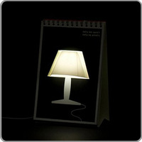 Calendar table lamp by flip page lamp doodle mathmos led mini lamp