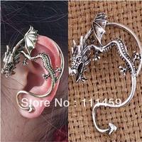 vintage punk style Fashion Flying Dragon Earrings Clip Ear Cuff Charm Earrings  studs 0090