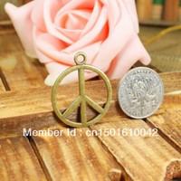 20pcs 29mm Vintage Bronze Metal Round Peace symbol Jewelry Charms Jewelry Pendant Fit Jewelry Making Pendants