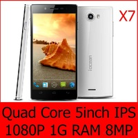 Iocean x7 Android Phones Android  4.2 8MP 3G MTK6589 1920*1080 1GB RAM MTK6589 5.0 IPS HD Free Shipping