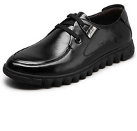 2013 fashion plate full genuine leather business casual shoes low