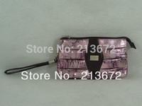 Fashions Women Bag Case Iridescence PU Bag  With Zipper Small Mirror Beatutiful Multipurpose New Purple Hot