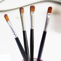 Sweets senior wooden handle eye shadow brush long handle long rod cosmetic brush beauty cosmetic tools