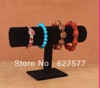 Wholesale Black Velvet Watch Bracelet T-Bar Jewelry Display Stand Rack