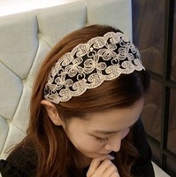 Butterfly decorative pattern wide fabric hair bands wide cloth headband hair pin headband hair accessory hair accessory