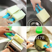 10Pcs/Lot Free Shipping Magic sponge double faced cup brush bottle brush cleaning brush