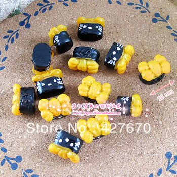 Free shipping flat back resins Pickles Sushi Roll Candy Toys 16mm 20pcs mixed kawaii home decoration christmas scrapbooking