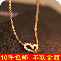 free shipping wholesale 10pcs/lot D332 accessories wishing diamond love necklace chain 1.6