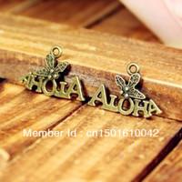 "100pcs 14*21mm Vintage Bronze Metal Mini Palm""Aloha"" Jewelry Charms Pendants Findings"
