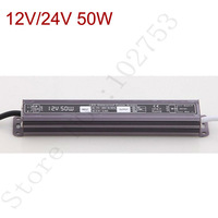 12v led driver 50w converter free Shipping 1pcs waterproof power adapter for strips ac 110/220V transformer power source charger