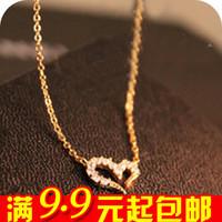 free shipping wholesale 10pcs/lot E4332 popular fashion accessories wishing diamond love necklace chain