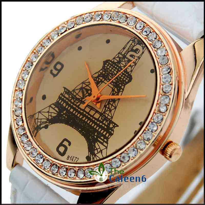 Fashion Women Elegant Lady Quartz Leather Strap Diamond Face Hot Sale Vogue High Quality Watche CL W1472(China (Mainland))