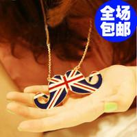 free shipping wholesale 10pcs/lot 4548 fashion accessories personalized torx flag unique style long necklace