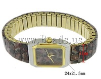 Free shipping!!!Fashion Watch Bracelet,2013 Jewelry, Zinc Alloy, with Leopard Skin Stone, plated, nickel, lead & cadmium free