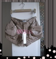 Black 8 khaki 4 , 6 , 8 2011 beautiful leather shorts 11im105-3480