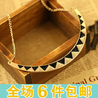free shipping wholesale 10pcs/lot 2014 fashion accessories vintage enamel semi-cirle punk triangle it vintage necklace collar
