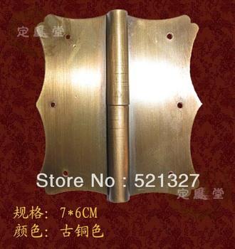 Antique furniture hinge copper pan skin bronze hinge HF-037