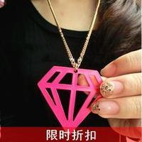 free shipping wholesale 10pcs/lot Fashion neon a-0399 fashion cutout diamond necklace triangle necklace 9.9