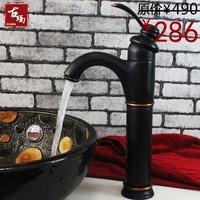 Black antique copper fashion counter basin faucet cold and hot water art basin faucet guanchong 126k