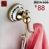 Copper ceramic zirconium gold clothes hook independent clothes hook towel double g212-b