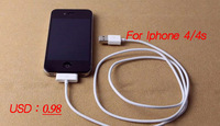 Free shipping  0.98/PCS 30 pinUSB 2.0 Cable for iPhone4 USB 2.0 Adapter cheep Cable for iPhone 4 /4s