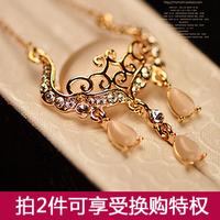 - eye longevities lock crystal necklace female short design chain fashion decoration accessories pendant hangings