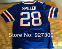 Football Jerseys #28 C.J. Spiller Jersey Blue Home Elite Buffalo Jersey Authentic NWT American Football Jersey Fast Shipping