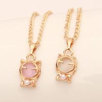 wholesale 10pcs/lot Accessories lucky cat eye - cat necklace chain necklace female