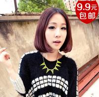 free shipping wholesale Fashion neon e343 fashion multicolour cutout triangle necklace female short design necklace