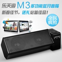 Free shipping Lotte m3 subwoofer wireless bluetooth speaker portable mini TF card usb mp3 small stereo audio FM radio staiton