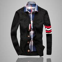 Male Fashion Slim Sweater Cardigan Twisted Men's New Brand Sweaters