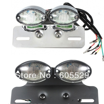 free shipping universal motorcycle fullset tail turn License light LED stop tail indicators project for suzuki honda 6style 1pcs