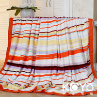 Criticizing blanket home textile colorful striped skin-friendly multi-purpose blanket plaid blanket coral fleece child