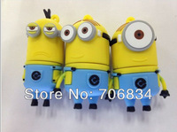 2013New fashion 4GB 8GB 16GB 32GB usb pen drive Despicable Me 2 Super milk dad shape usb flash drive memory stick free shipping