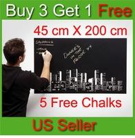 Chalk Board Blackboard Removable Vinyl Wall Sticker Decal - Better than Paint