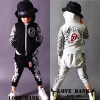 Clothing male child long-sleeve casual set 2013 autumn baby clothes boy sports male big boy
