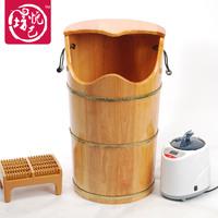 Quality oak yue suffumigation bucket foot bath bucket foot bucket steaming foot bucket feet bucket barrel beightening 70cm