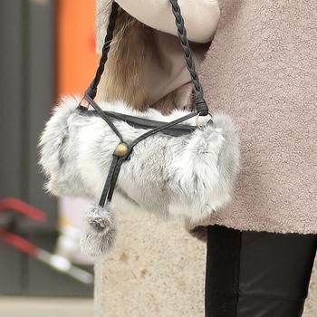 2013 autumn and winter fur accessories fur bags fur rabbit fur women's bianzi handbag g48