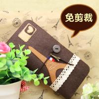 Material cutting kit diy handmade fabric material handmade diy kit eiffel tower long design wallet