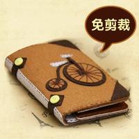 Material cutting kit diy handmade fabric material handmade diy kit bicycle long design wallet