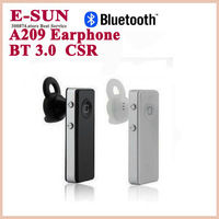 High Quality Bluetooth earphones A209 High Fedelity Headsets In-Ear Wireless Earphone for Cell Phone Free Shipping