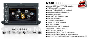 A8 Chipset 3G HD 1080P Car DVD Headunit For FORD MUSTANG EXPEDITION With GPS Navi Radio BT iPod Steering Wheel Control