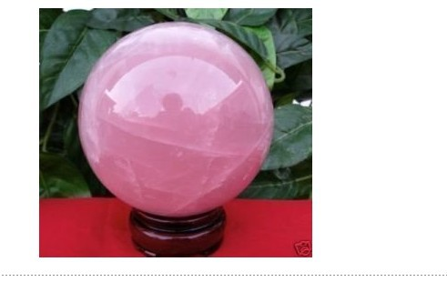 free ship NATURAL rose quartz crystal sphere stand 65mm(China (Mainland))